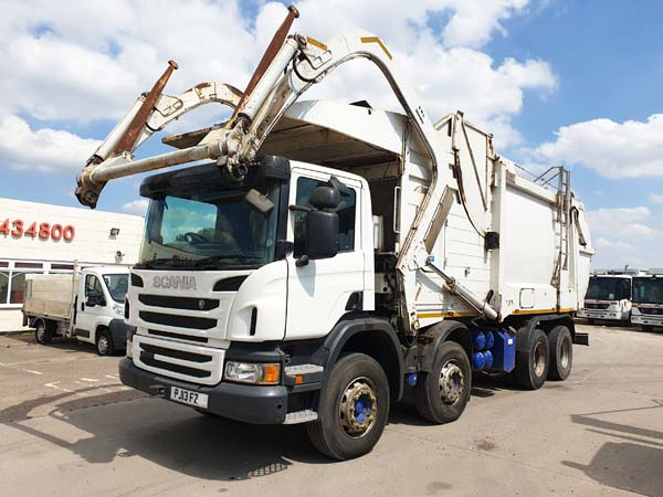REF 58 - 2013 Scania Heil Front End Loader Refuse Truck For Sale