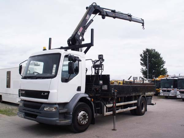 Ref: 51 - 2006 DAF Dropside with Hiab Crane and pole frames For Sale