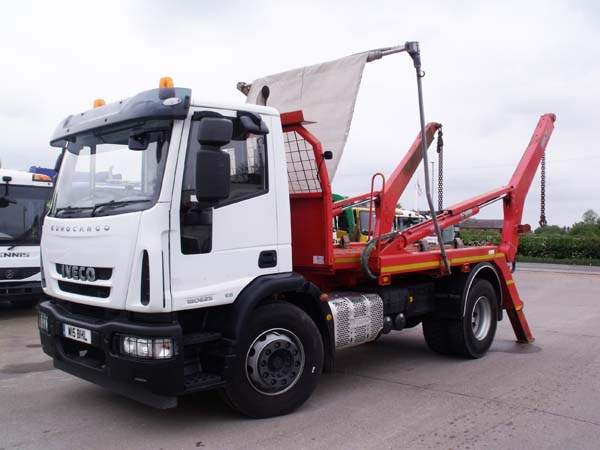 Ref: 155 -2014 Iveco Euro 6 Hiab Skip Lorry For Sale