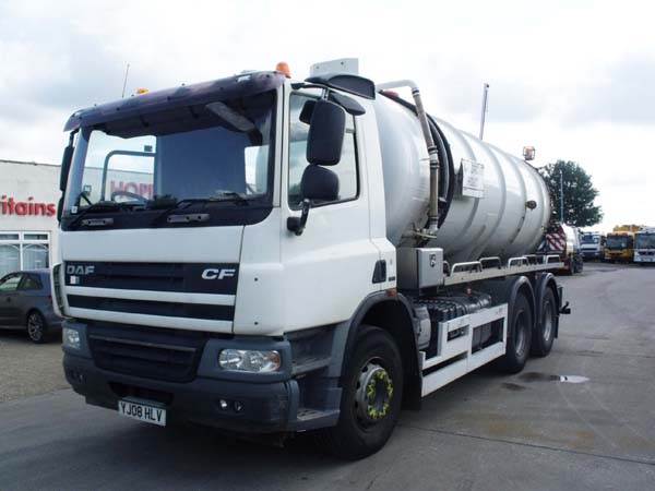 Ref: 45 - 2008 DAF Whale Stainless Steel Vac tanker For Sale