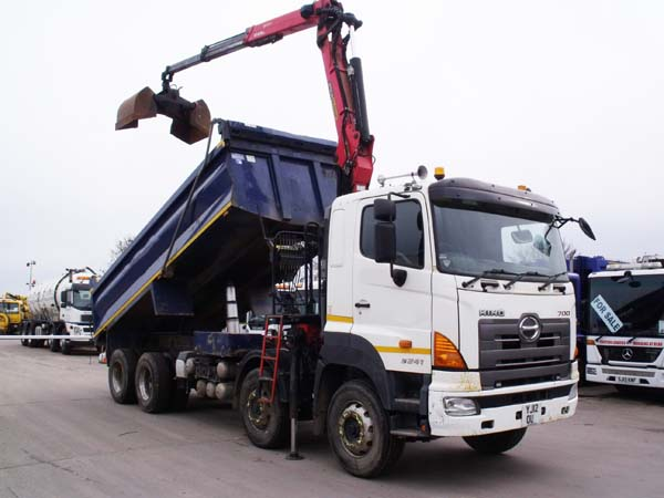 Ref: 67 - 2012 Hino 8x4 32 Ton Tipper Grab For Sale