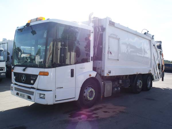 Ref: 19 - 2011 Mercedes 70/30 Twinpack Refuse Truck For Sale