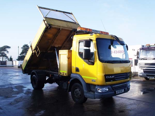 Ref: 118 - 2009 DAF 7.5 Ton 3 Way Tipper For Sale