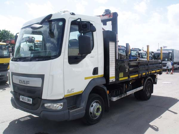REF 224 - 2015 DAF 7.5 ton Euro 6 Tipper For Sale