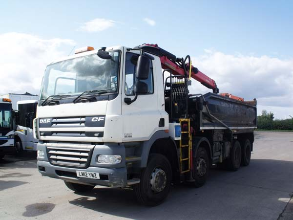 Ref: 146 - 2012 DAF 32 ton Tipper Grab For Sale
