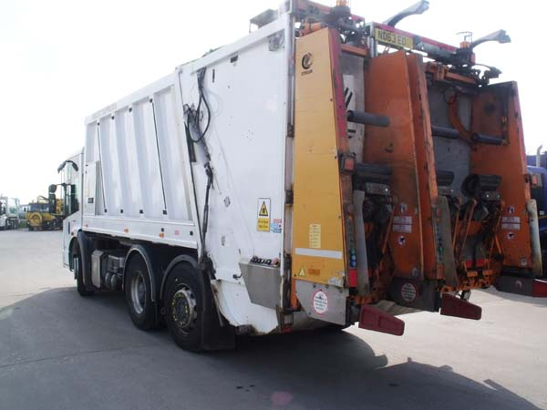 REF 144 - 2013 Mercedes Faun Split body Refuse Truck For Sale