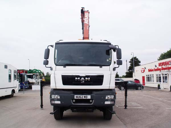 Ref: 18 - 2012 MAN TGM 4X4 Dropside with Crane for sale