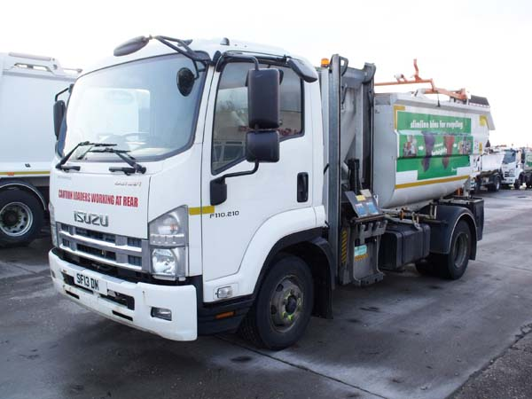 Ref: 92 - 2013 Isuzu Refuse Truck with Front POD For Sale