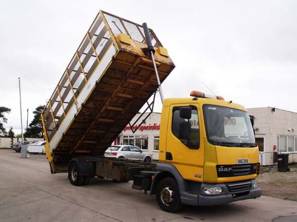 Ref: 75 - 2013 DAF Caged Tipper with Tail lift For Sale