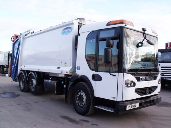 Ref: 121 - 2011 Dennis Narrow Track Refuse Truck For Sale